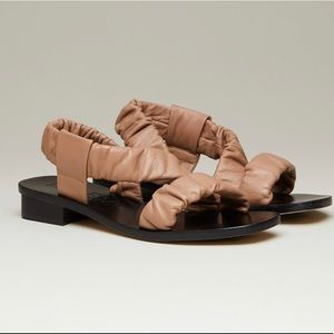 M. Gemi The Gabriana Sandals Ruched Nap leather
